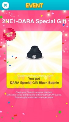 2NE1 Special Gift – Line Play | A Simple Happiness