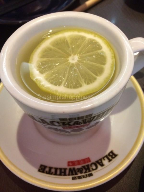 1) Canton Paradise-Hot Lemonade