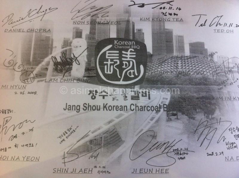 1) Jang Shou Korean BBQ-Table Sheet