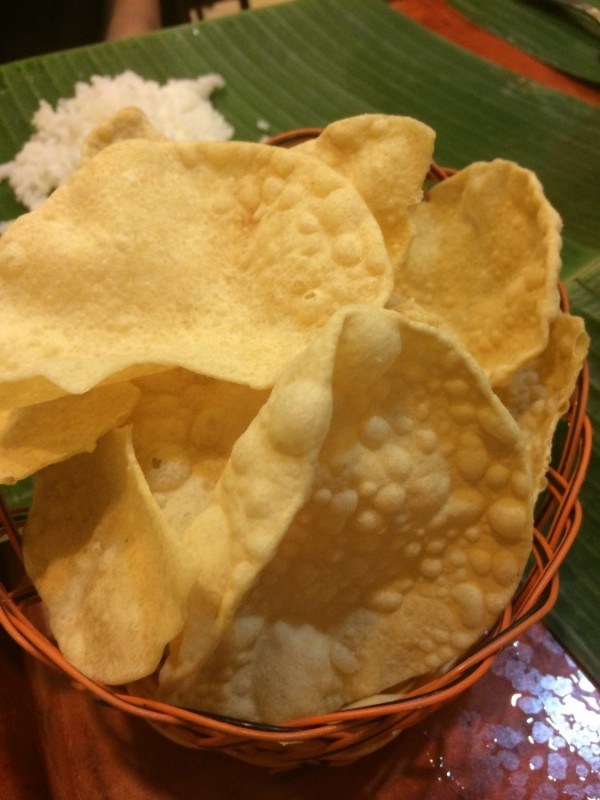 1) Samys Curry-Papadum