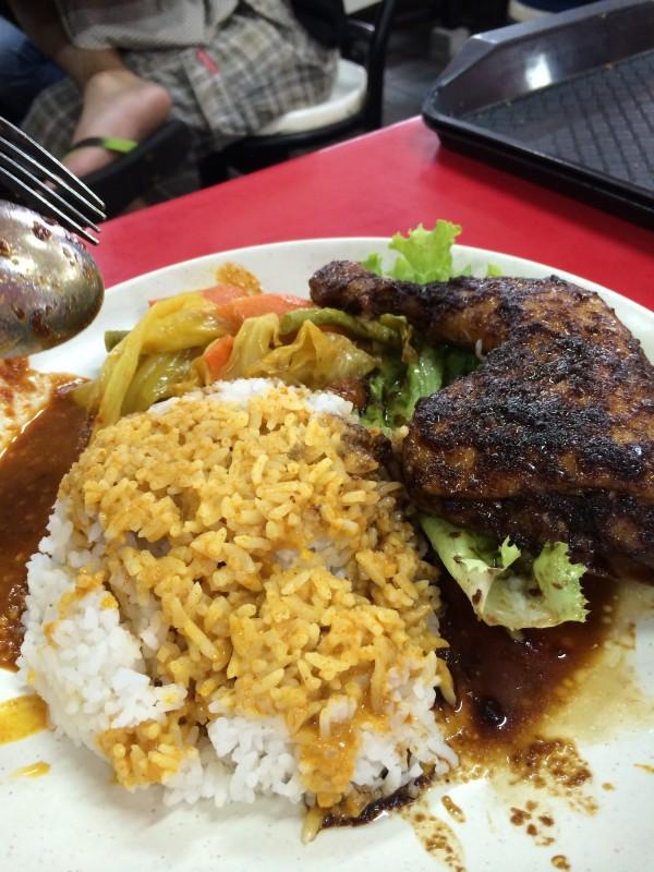 Steam chicken rice
